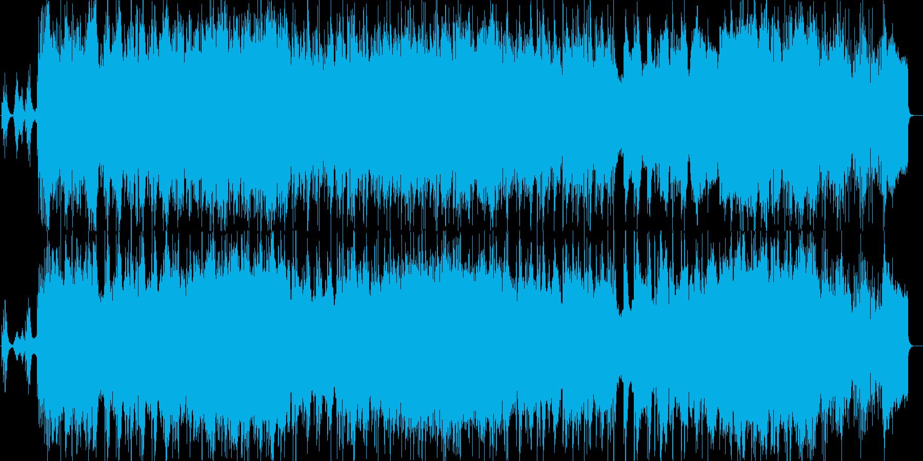 オシレータシンク活用の和風インスト曲の再生済みの波形