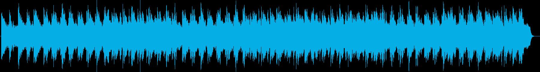 穏やかで優しく流れるヒーリングの再生済みの波形