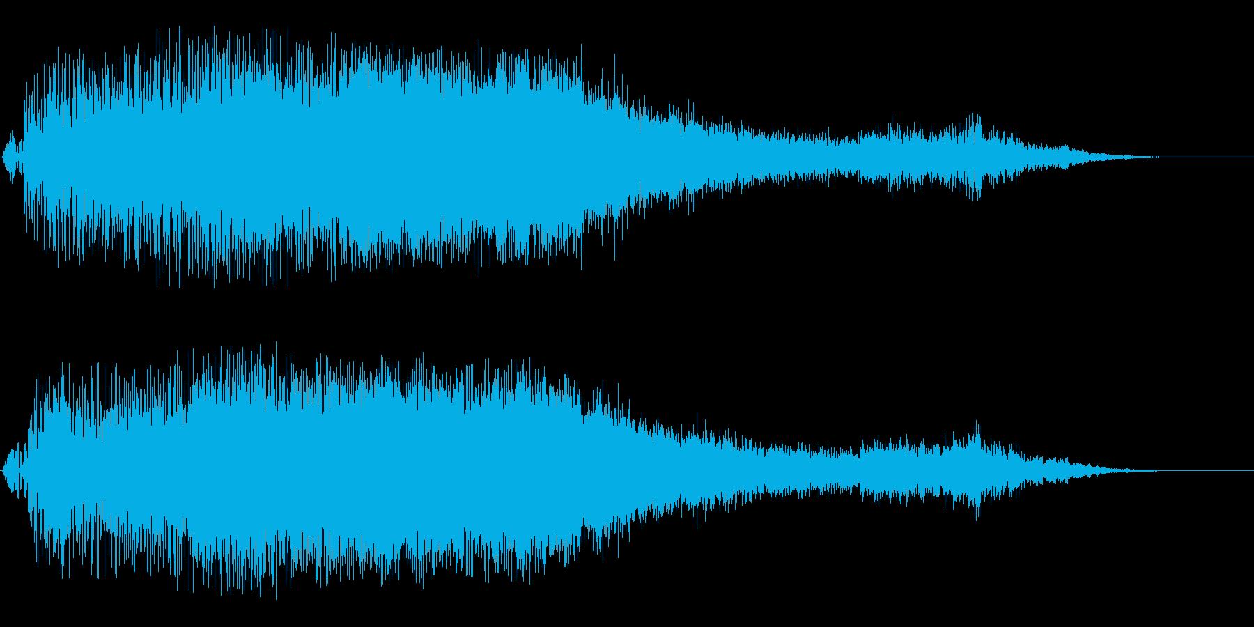 ドゥルドゥルルーン!(派手な魔法音)の再生済みの波形