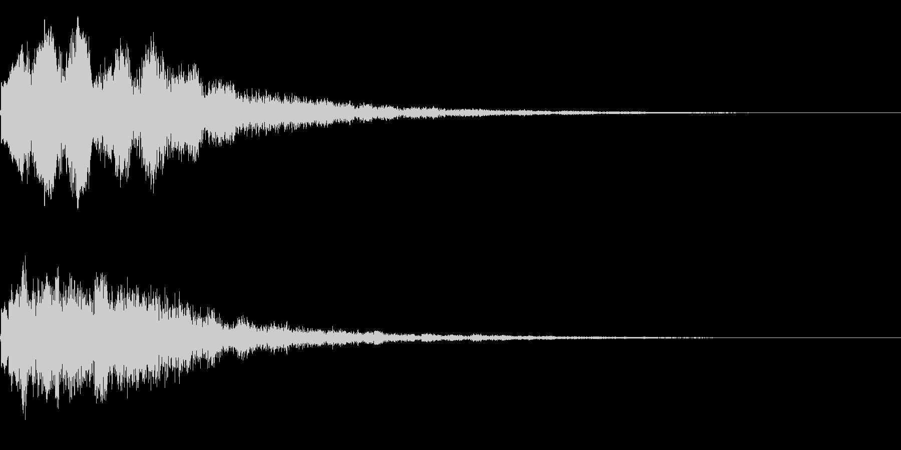 キラーン(星、光、魔法、テロップ等)3bの未再生の波形