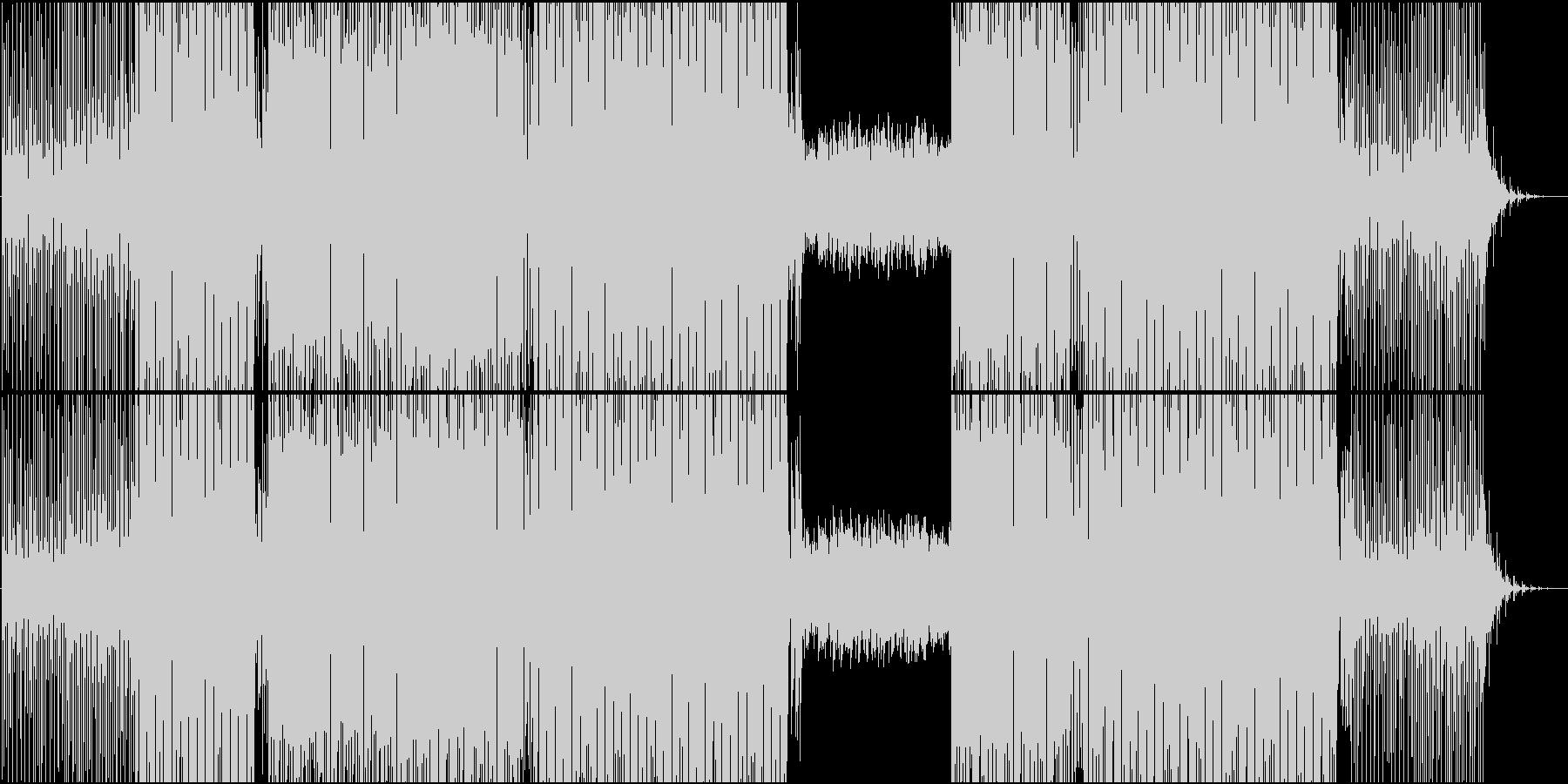 映像用クールで静かなシーケンスのEDMの未再生の波形