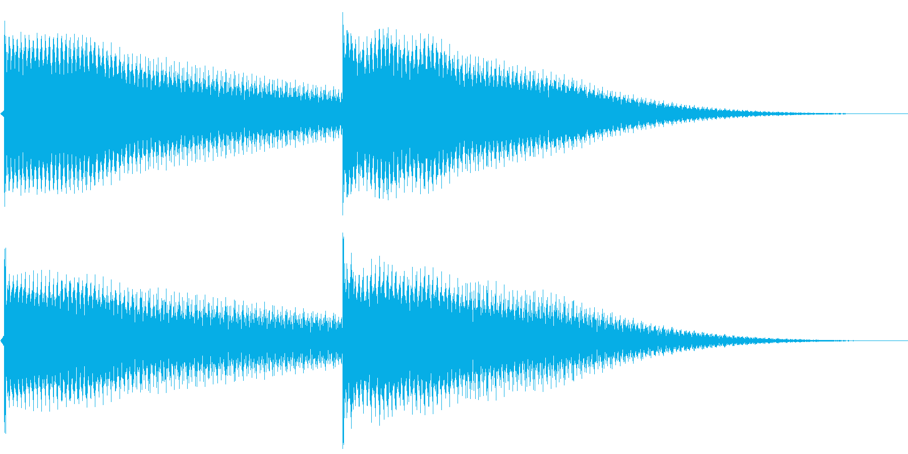 ボーン、ボーンという時計の鐘の音ですの再生済みの波形