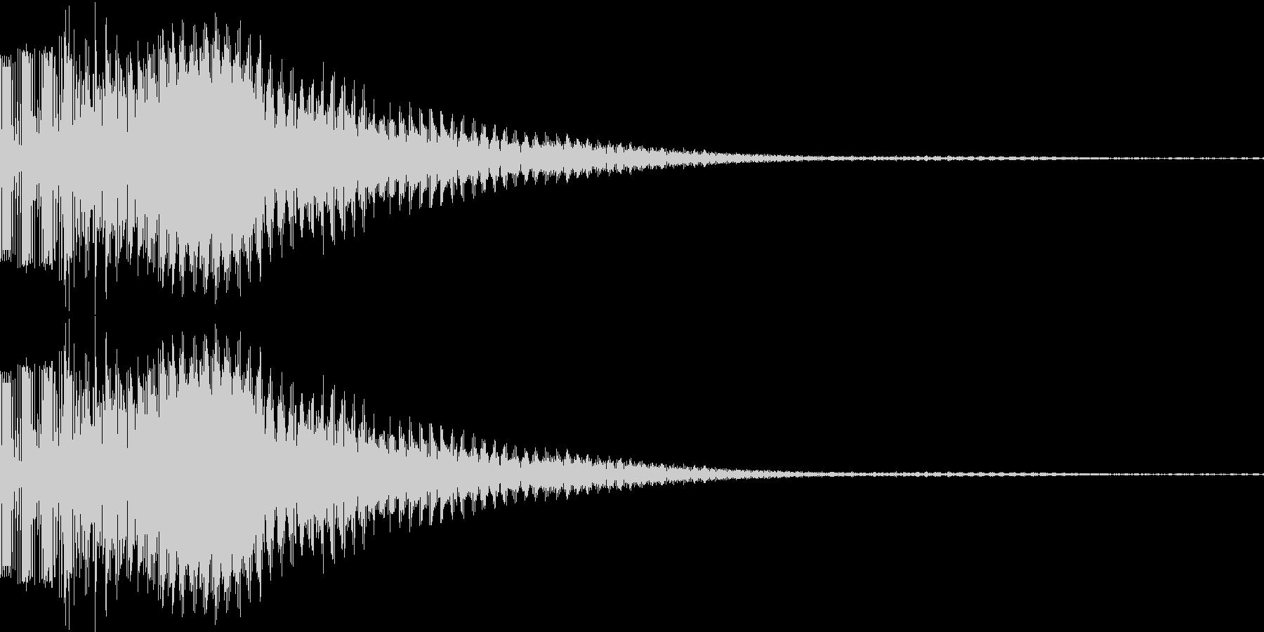 ボタン音、決定音の未再生の波形
