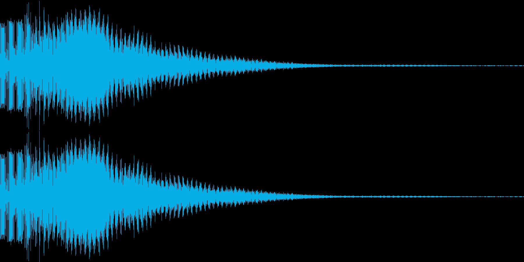 ボタン音、決定音の再生済みの波形