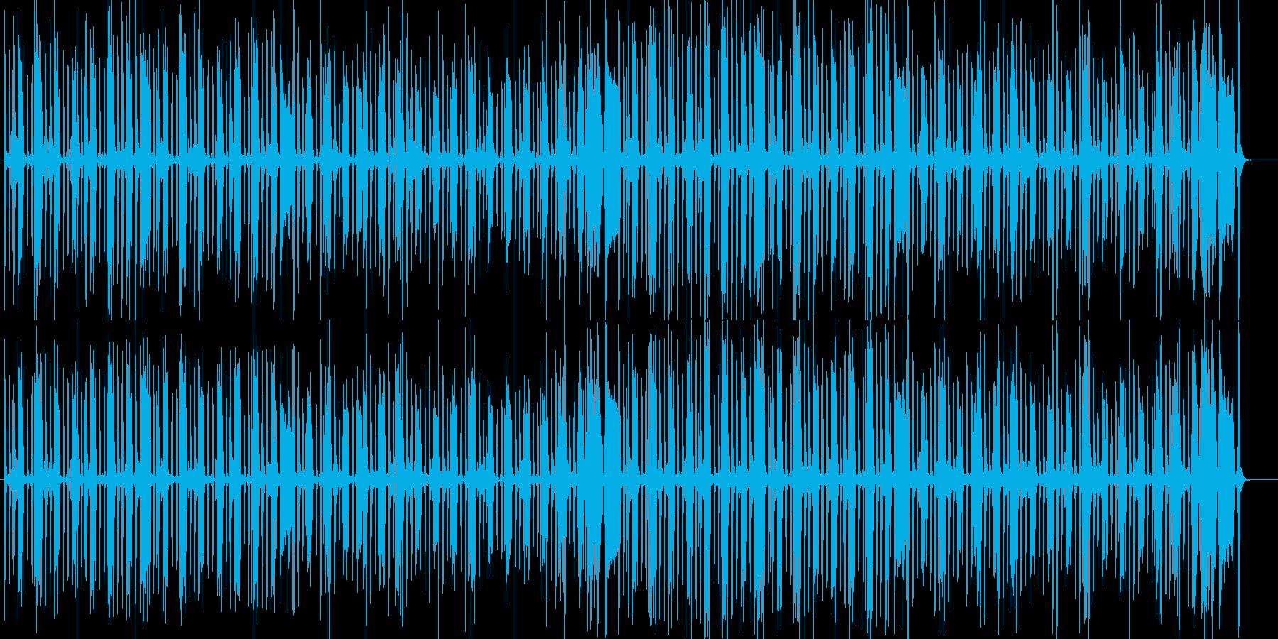 ほのぼのあたたかい感じの日常シーンの劇伴の再生済みの波形