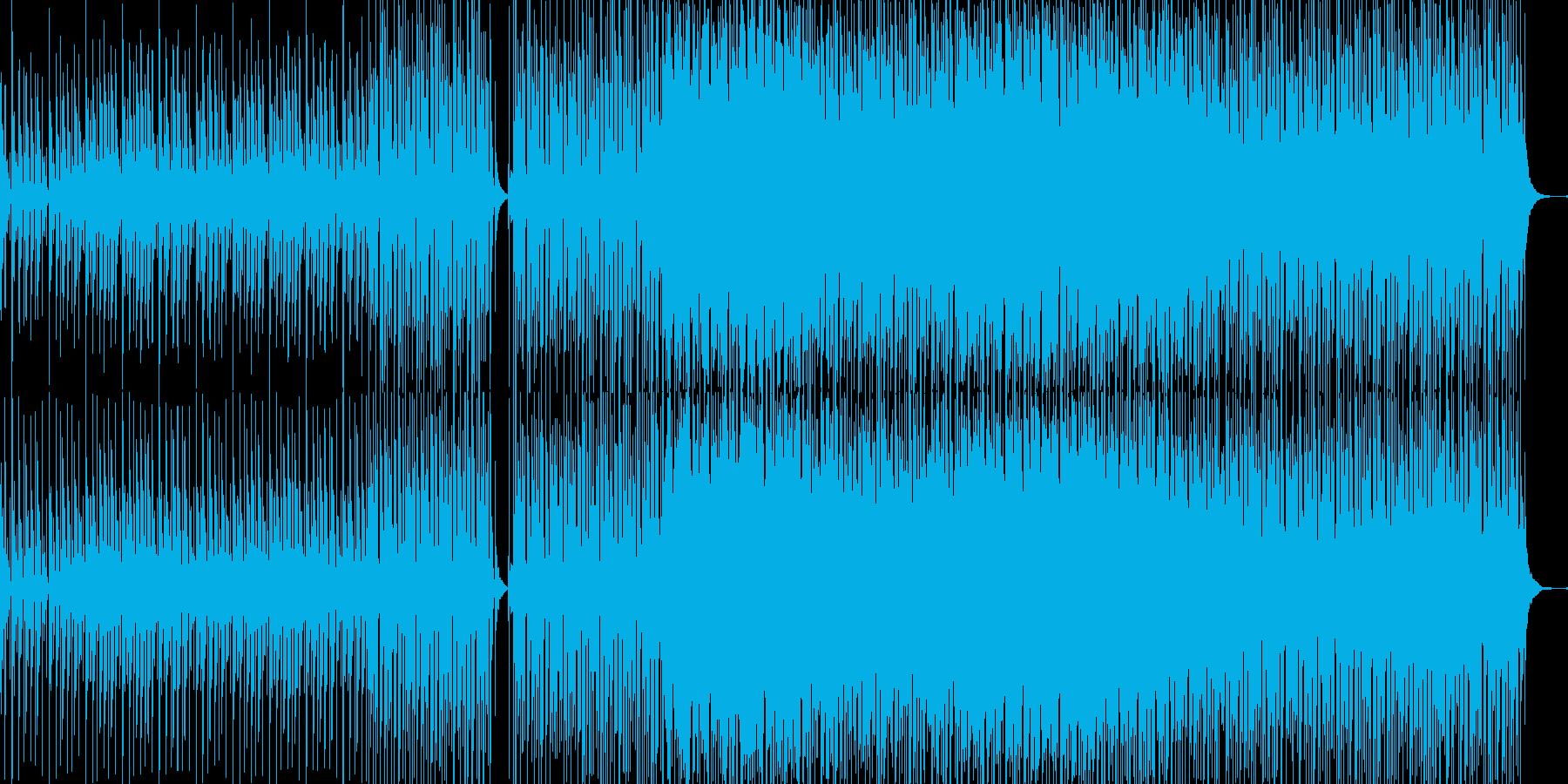 夜の海を航海するよう幻想的でスリルある曲の再生済みの波形