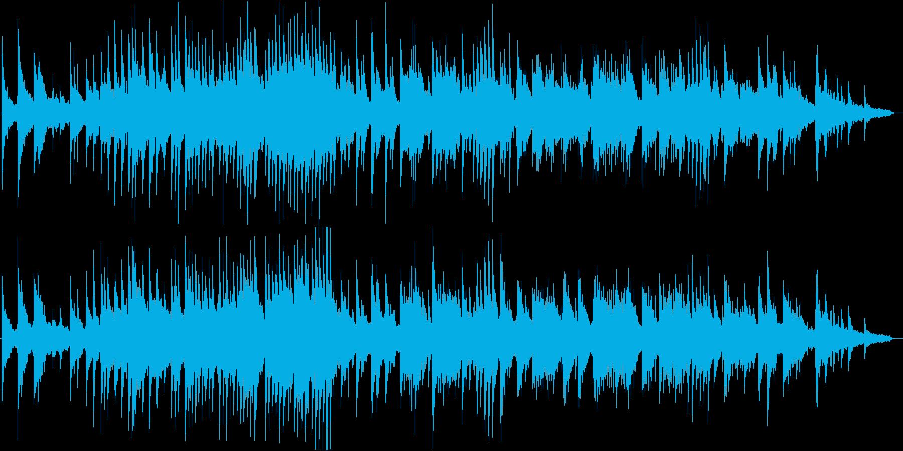 壮大でダークな雰囲気のピアノ・ソロの再生済みの波形