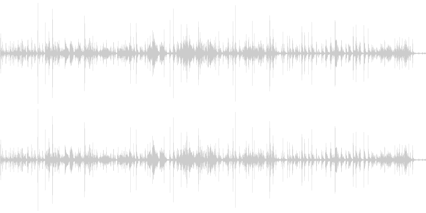 キラキラしたピアノの宇宙的なBGMの未再生の波形