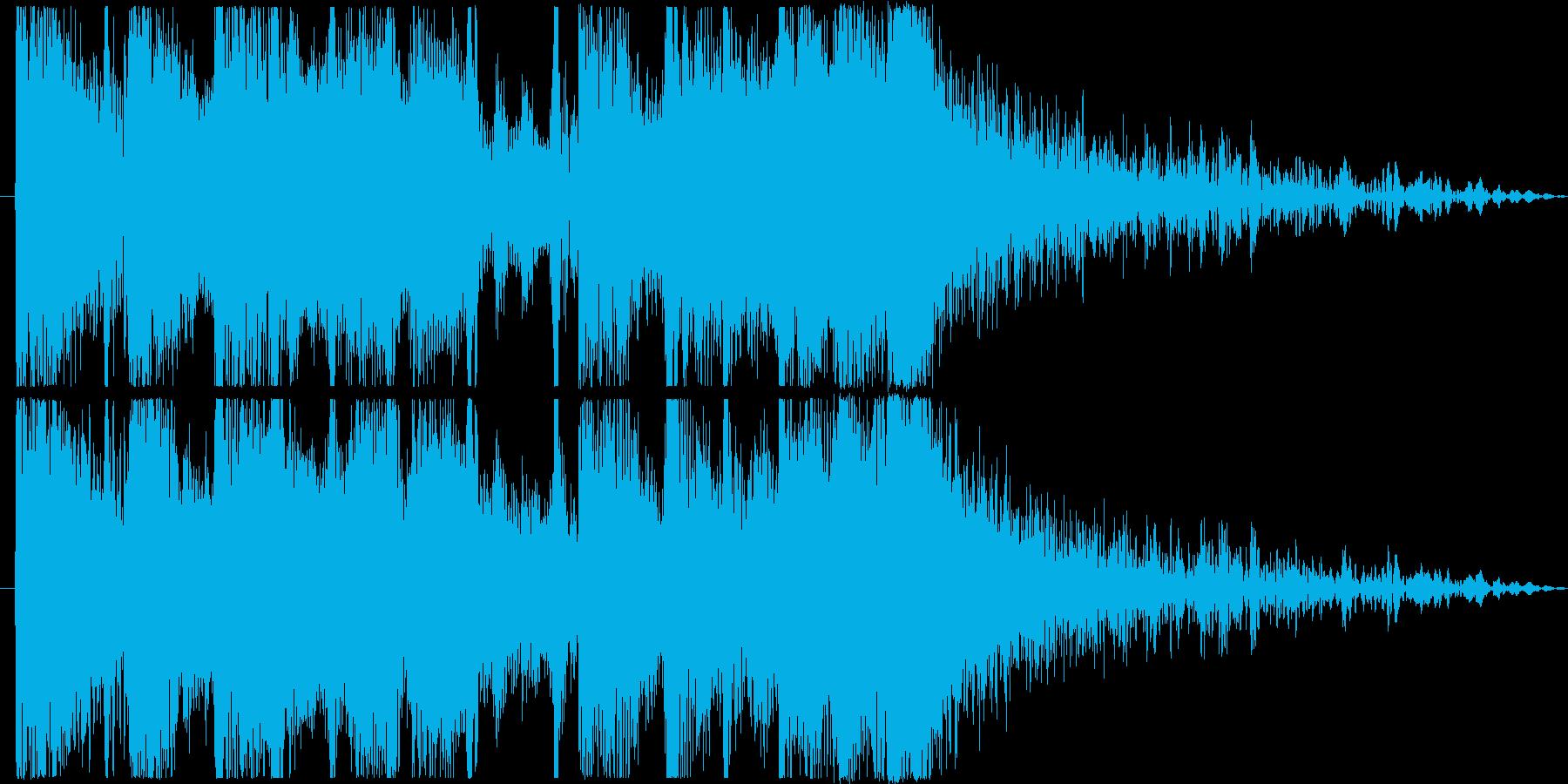 重厚で攻撃的な激しいアイキャッチの再生済みの波形