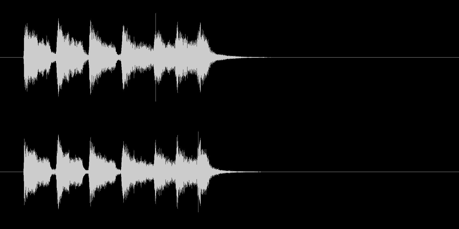 ジングル(ワールド・ミュージック風)の未再生の波形