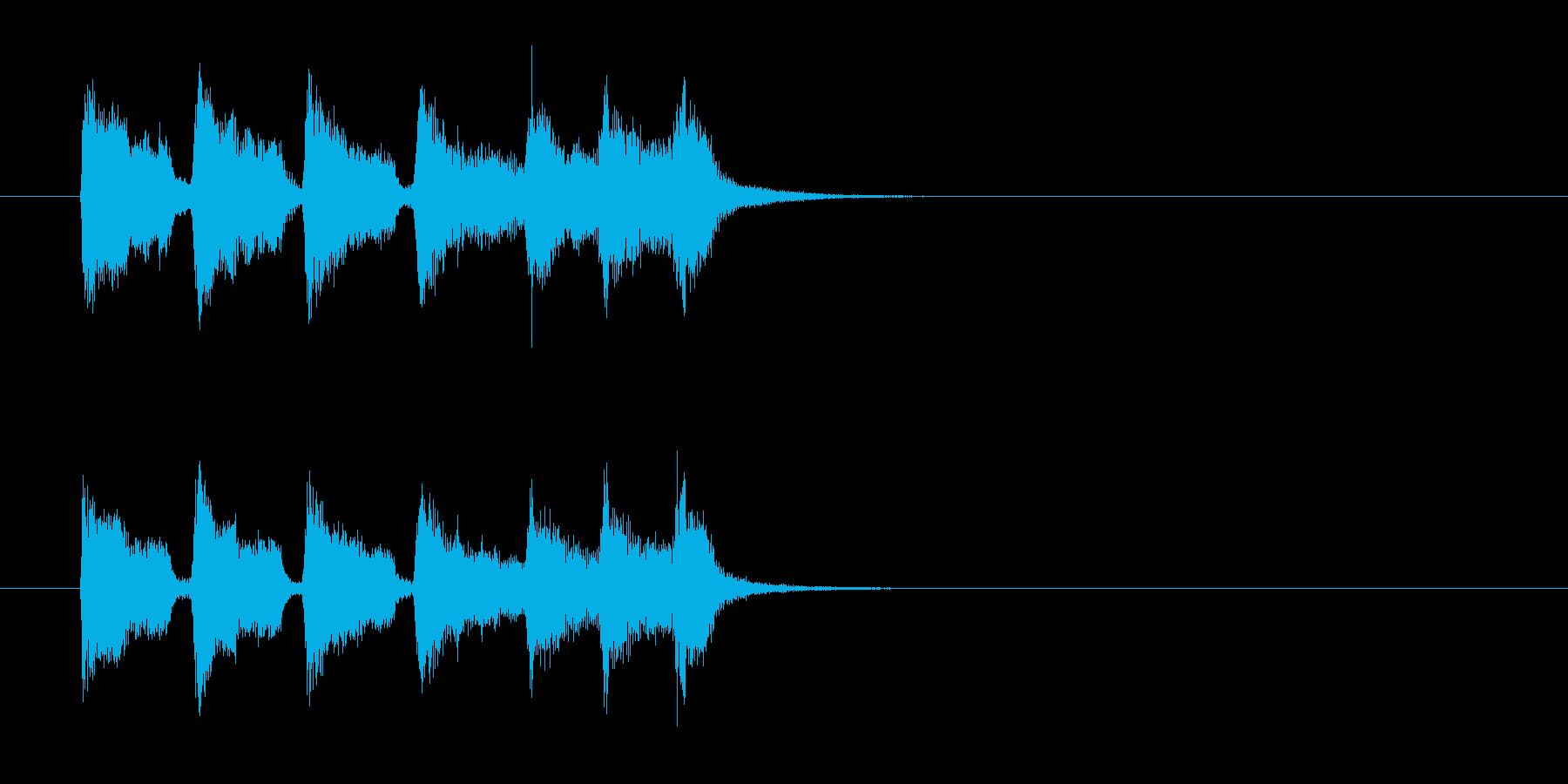 ジングル(ワールド・ミュージック風)の再生済みの波形