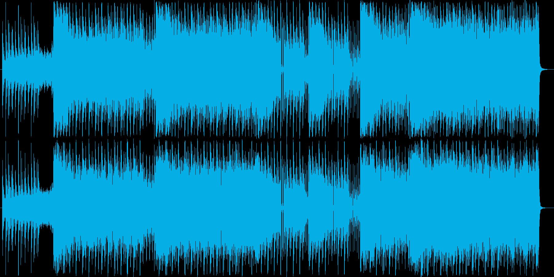 映像に合うかっこいいエレクトロハウスの再生済みの波形