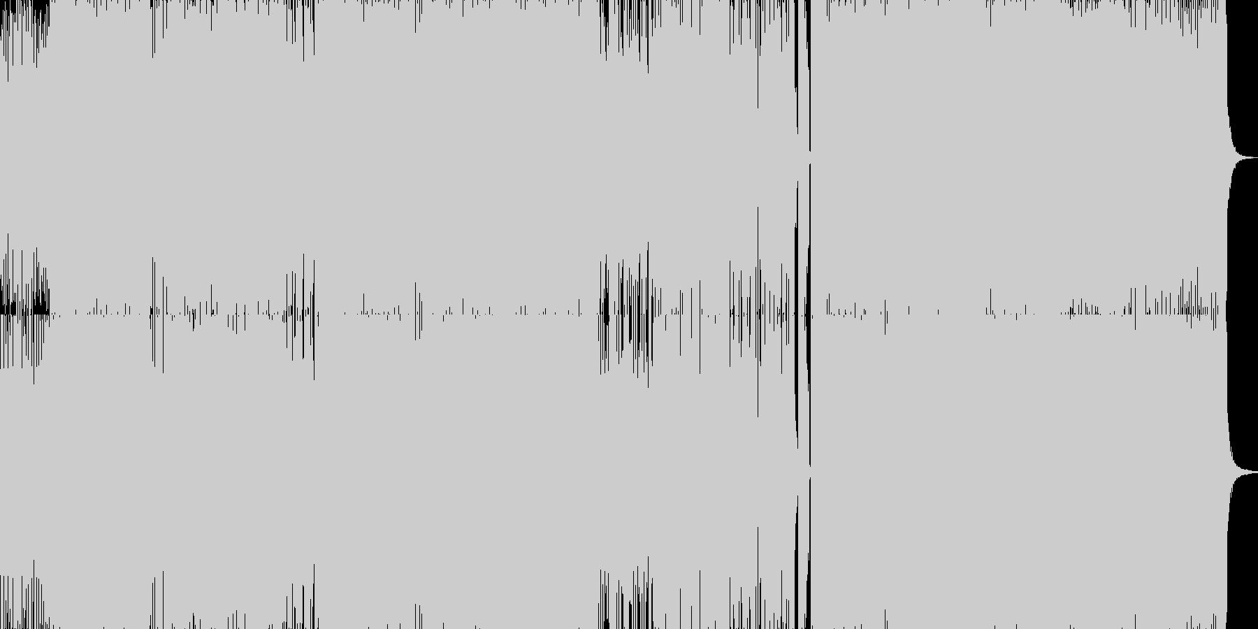音ゲーなどのアップテンポ&ノリノリな雰…の未再生の波形