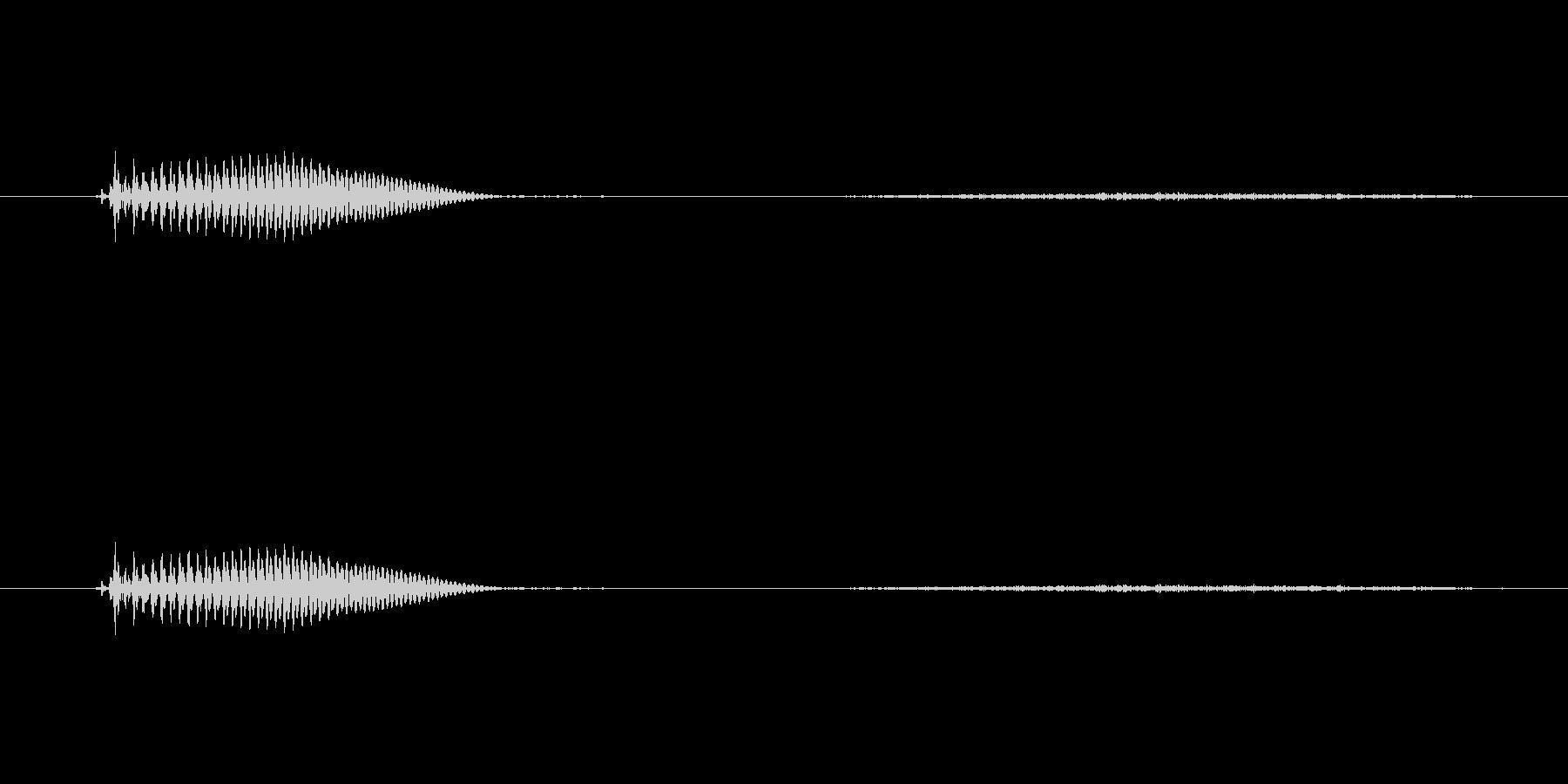 【子供の戦闘ボイス】うっ(ダメージ)の未再生の波形