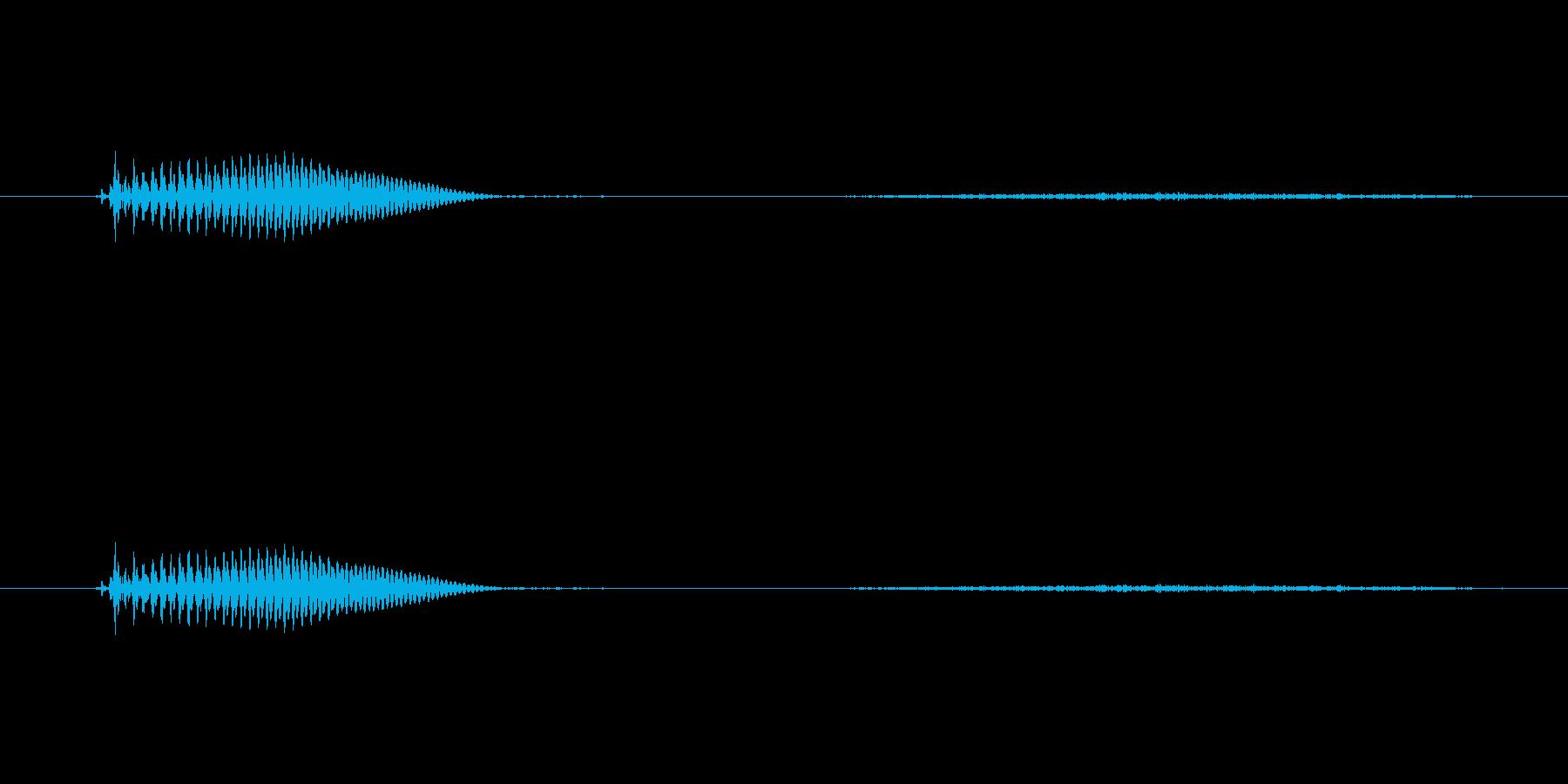 【子供の戦闘ボイス】うっ(ダメージ)の再生済みの波形