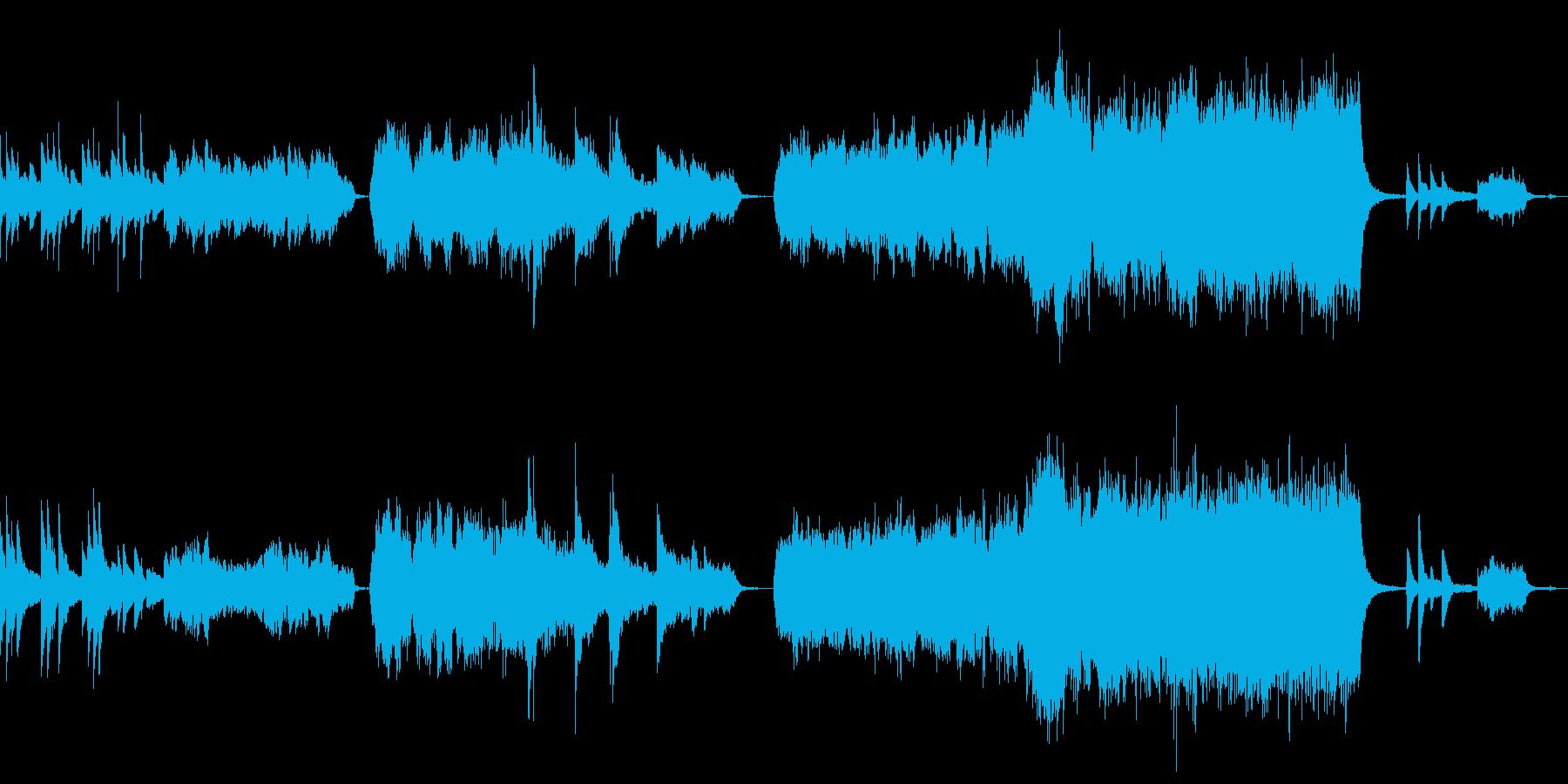 自然の壮大さを表現したオーケストラの再生済みの波形