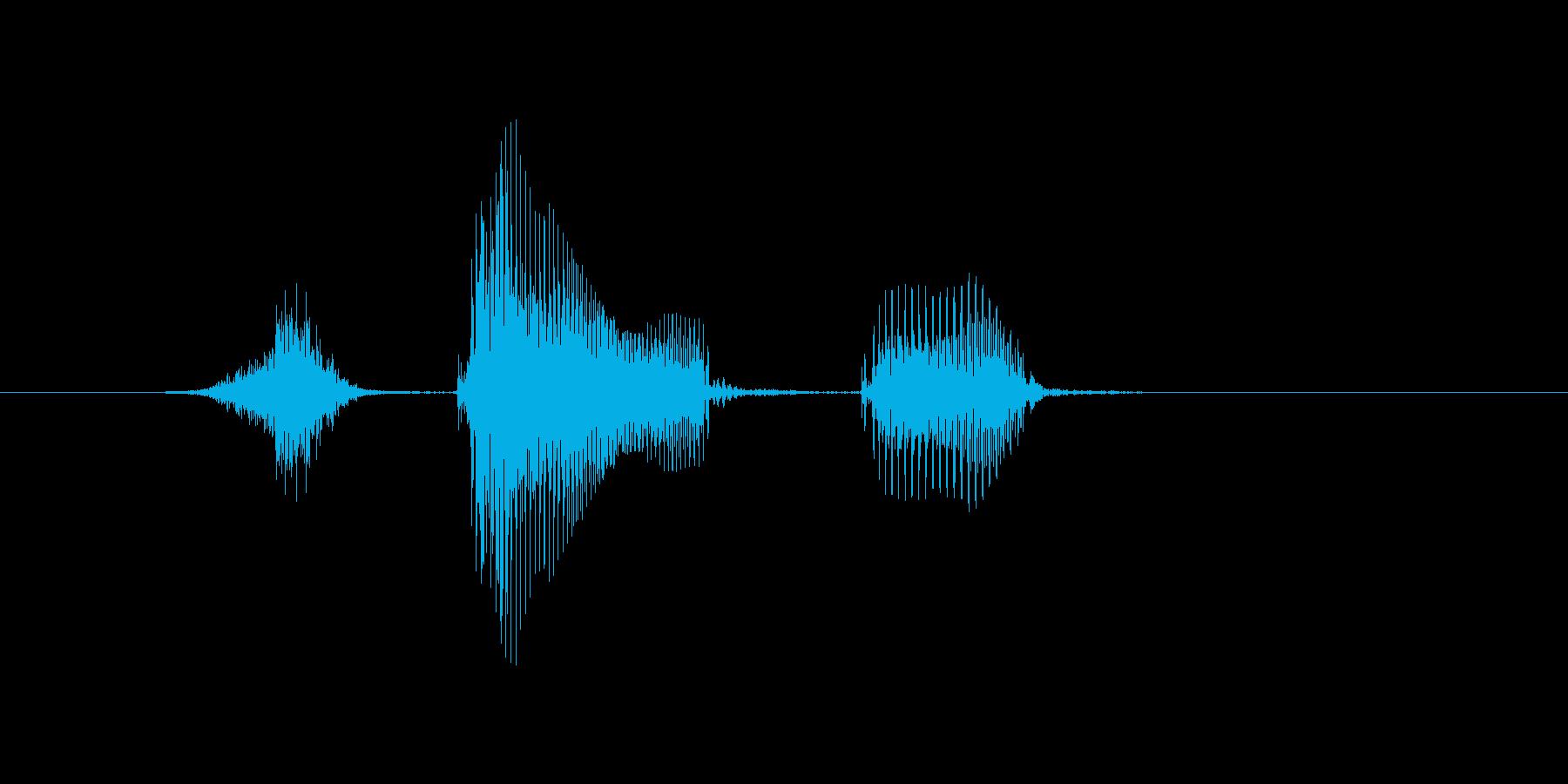 スタートの再生済みの波形