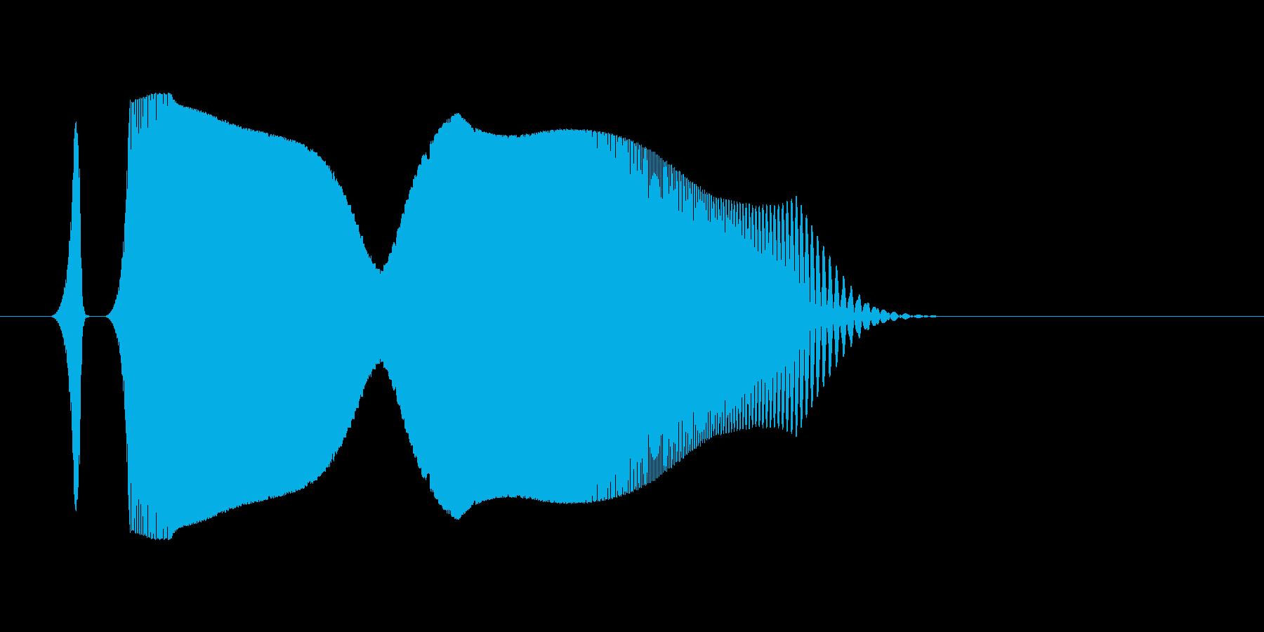 シンセ音。スワイプなど。「ヒュイッ」の再生済みの波形