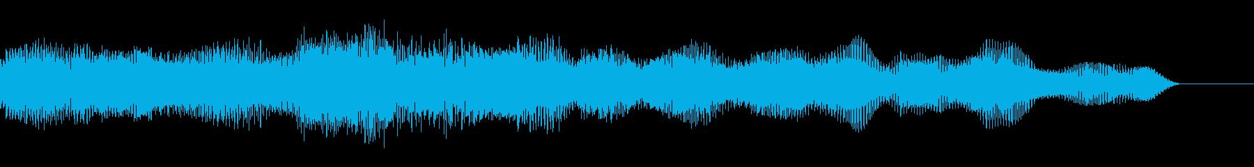 電子音の再生済みの波形