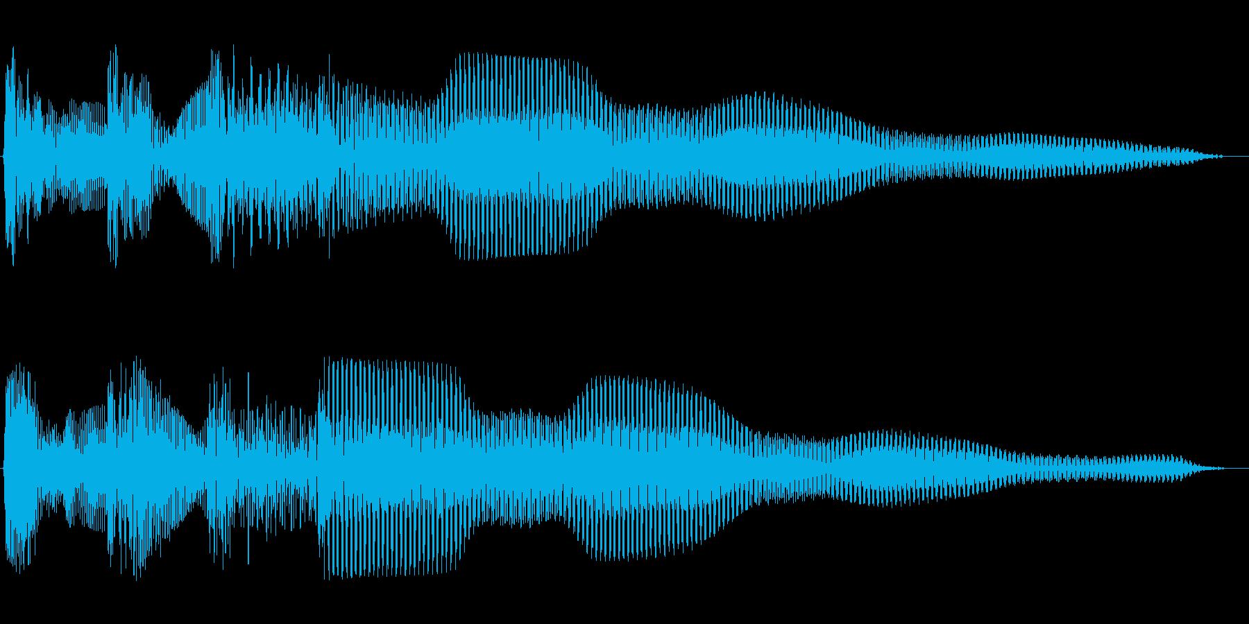 ピンポンパンポン(お知らせ)の再生済みの波形