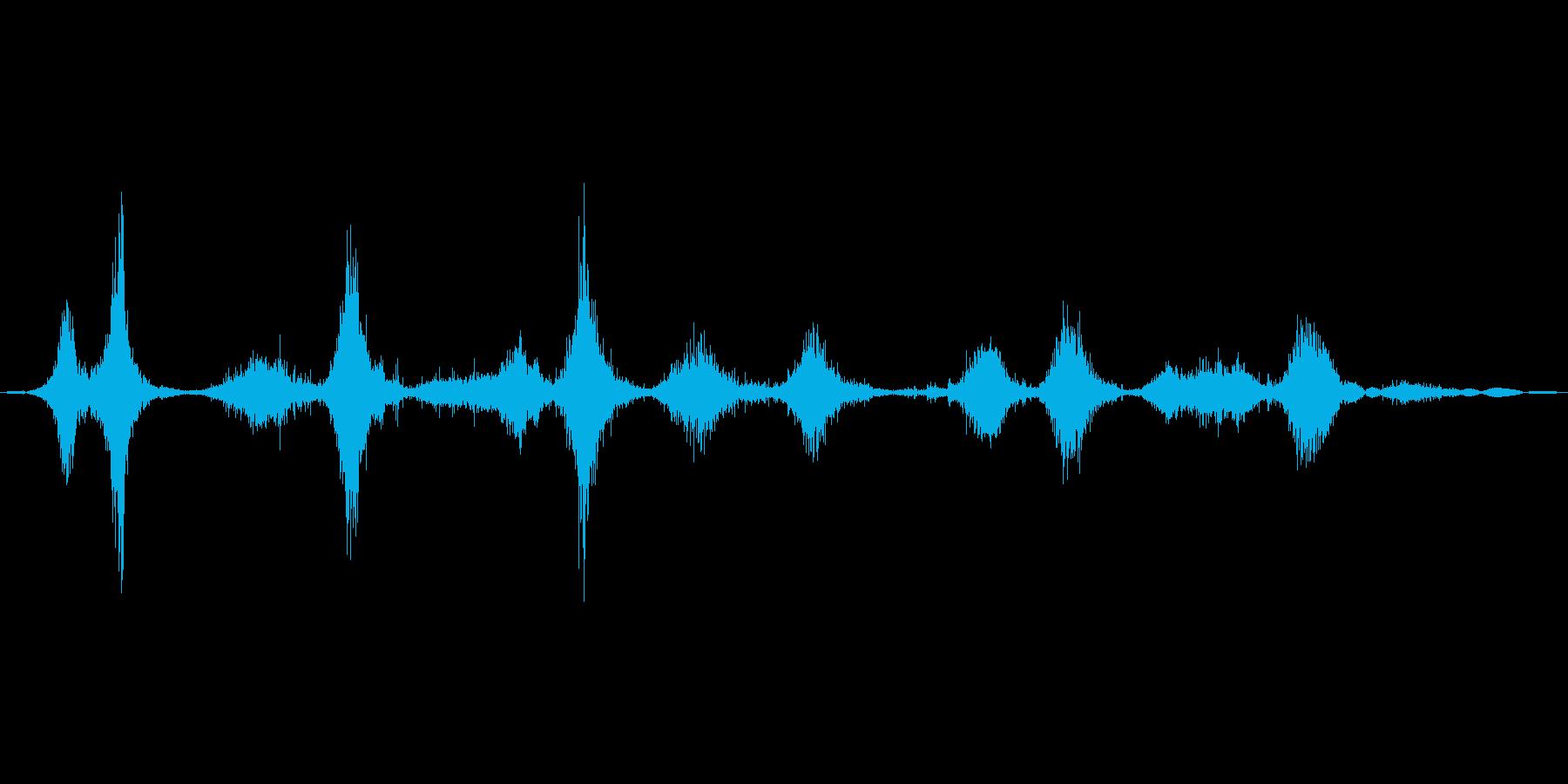 シェイク(顆粒)_複数回の再生済みの波形