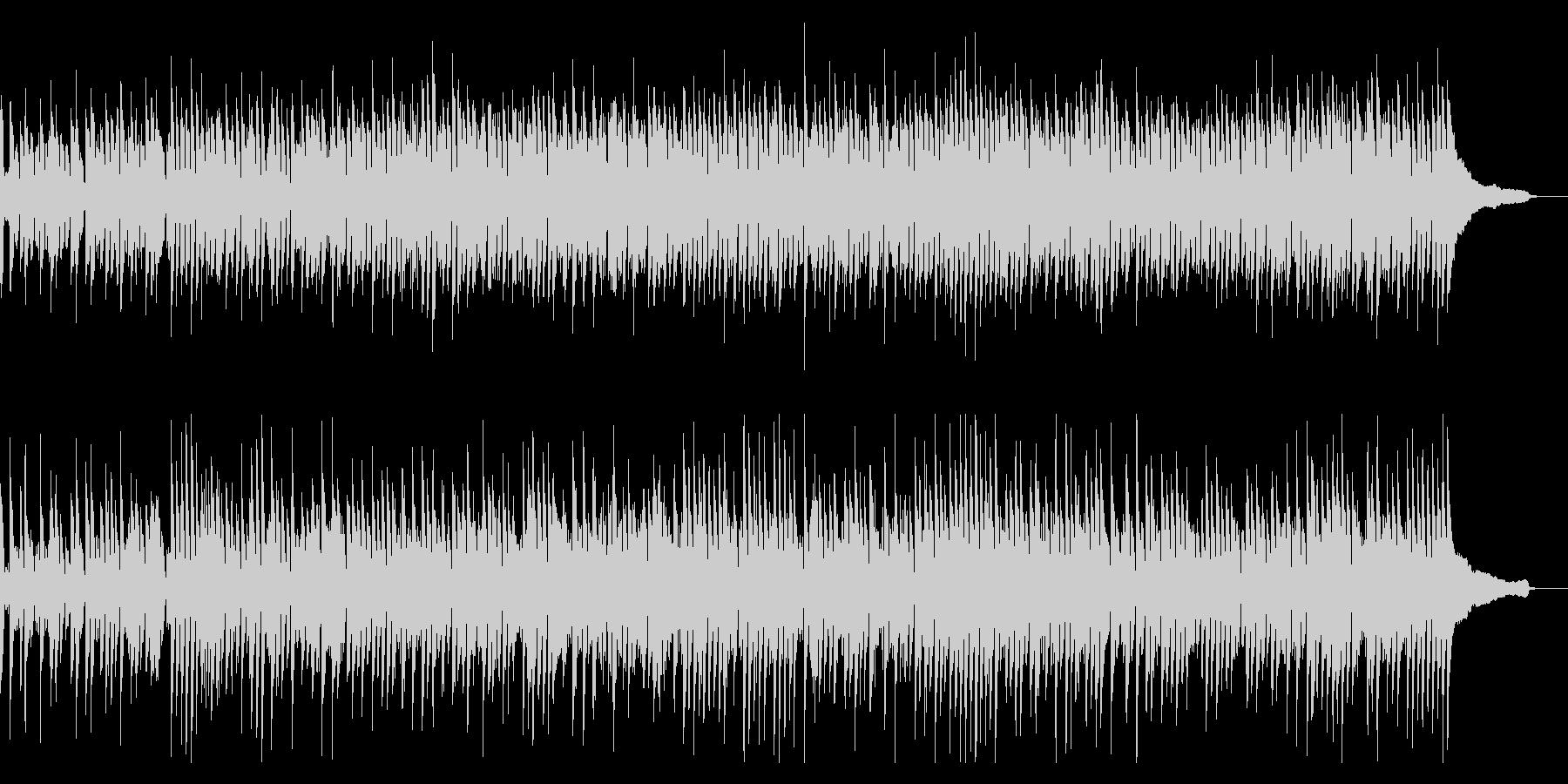 アップテンポのブルース系ピアノソロの未再生の波形