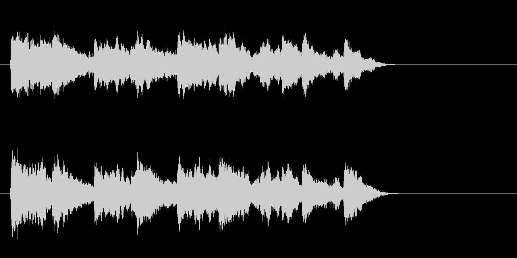 透明なポップバラード(Aメロ)の未再生の波形