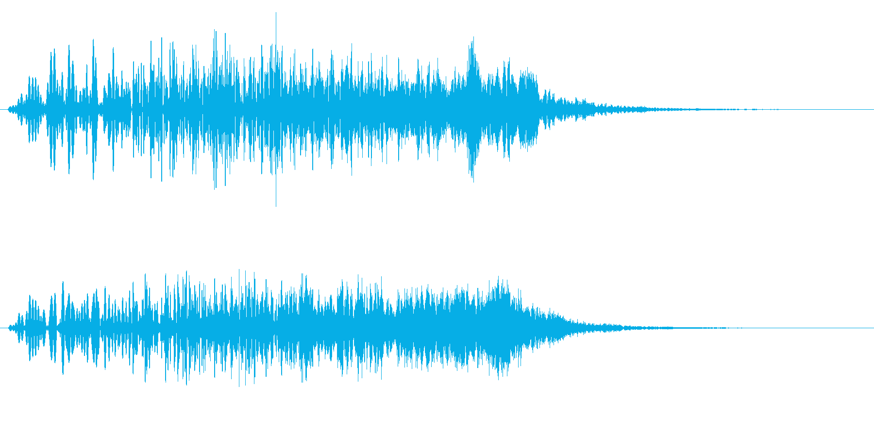 かわいい ワイプ 場面転換 めくりの再生済みの波形