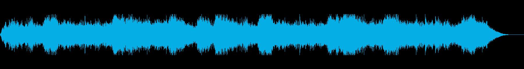荒廃の地の戦争を思わせる恐ろしい音風景の再生済みの波形