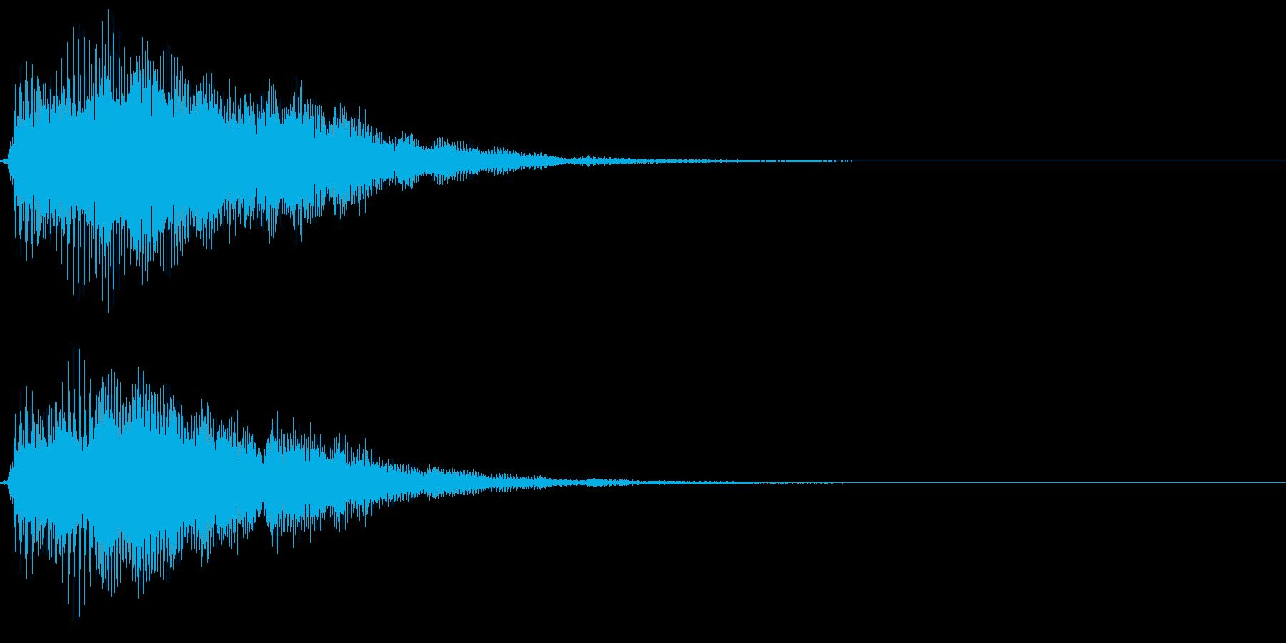 「決定」「選択」などのシステム効果音。の再生済みの波形
