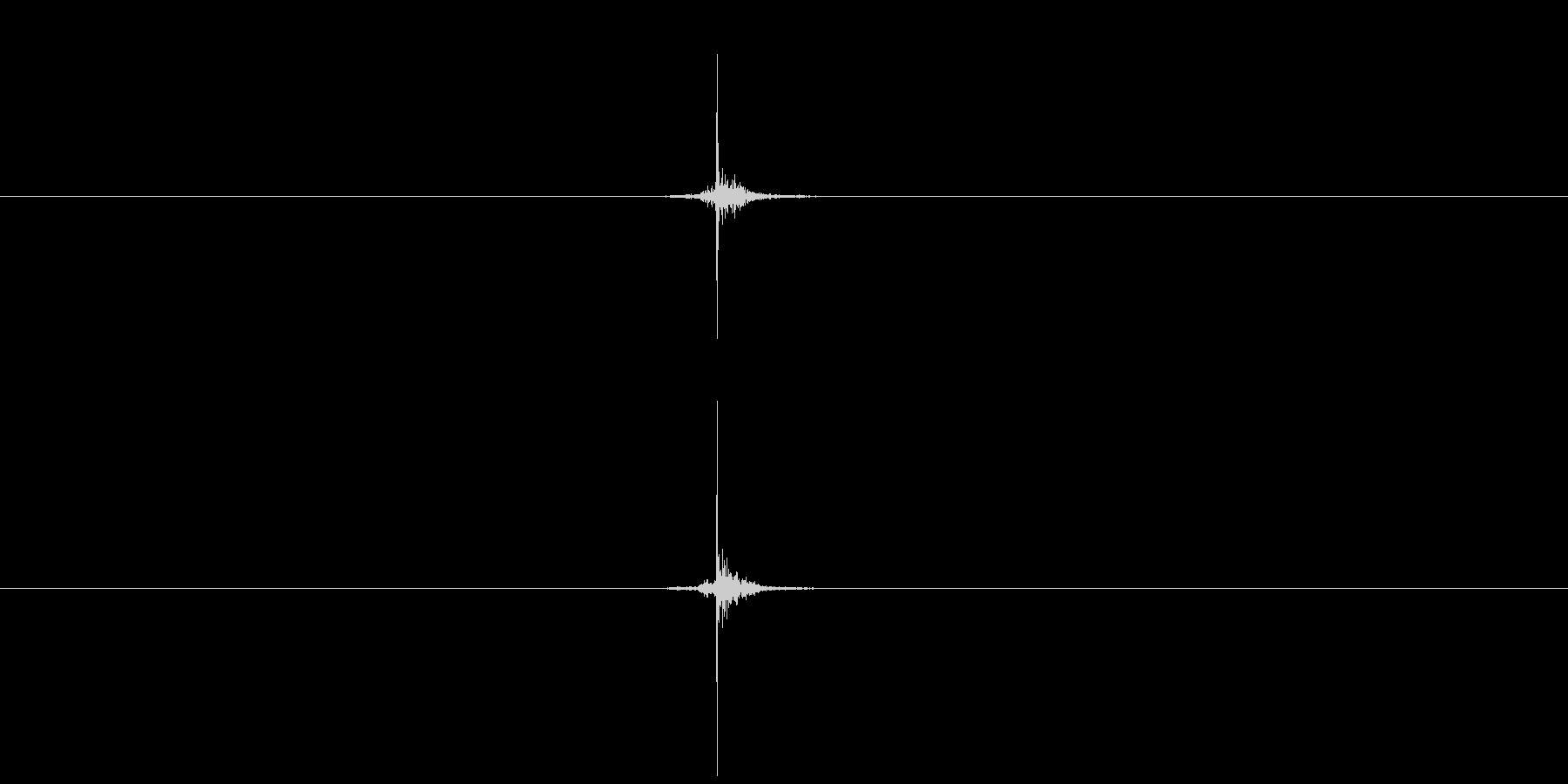 【生音】触れる・肌 - 5 「ぺちん」の未再生の波形