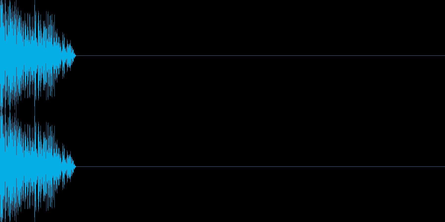 攻撃音04(軽めの銃)の再生済みの波形