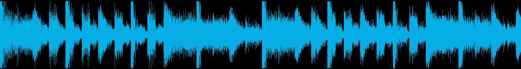 ゲーム用待機画面BGM速度UP版の再生済みの波形