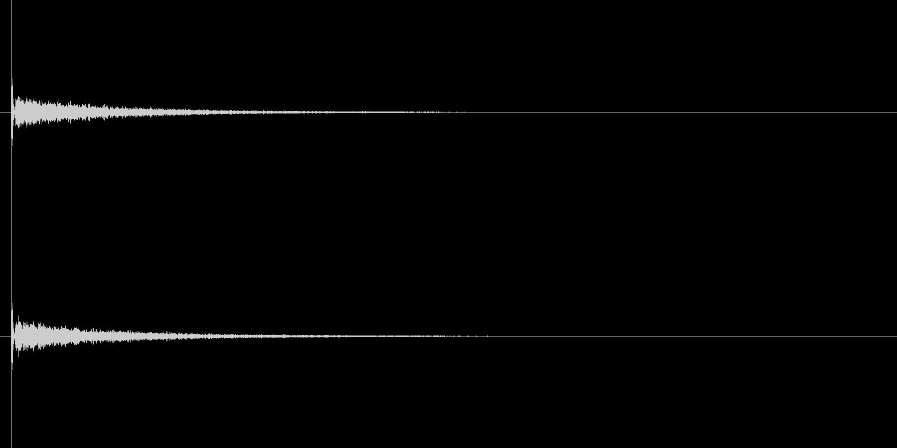 【キータイプ】入力・エンターキー2の未再生の波形