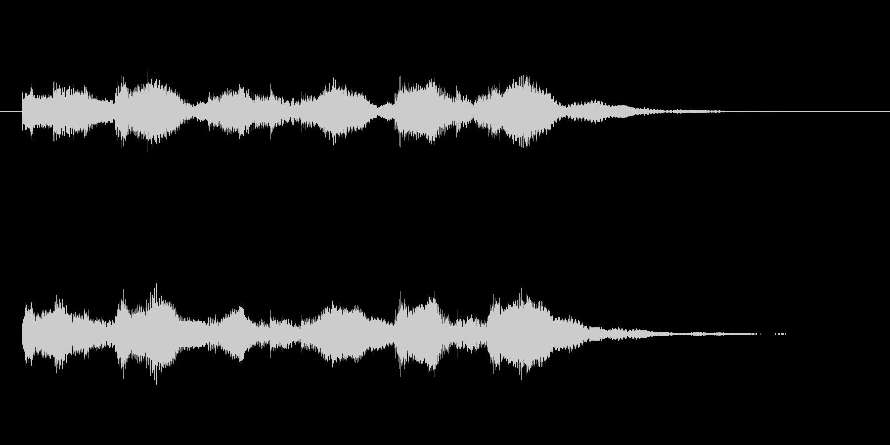 ふんわりした空気感のある音の未再生の波形