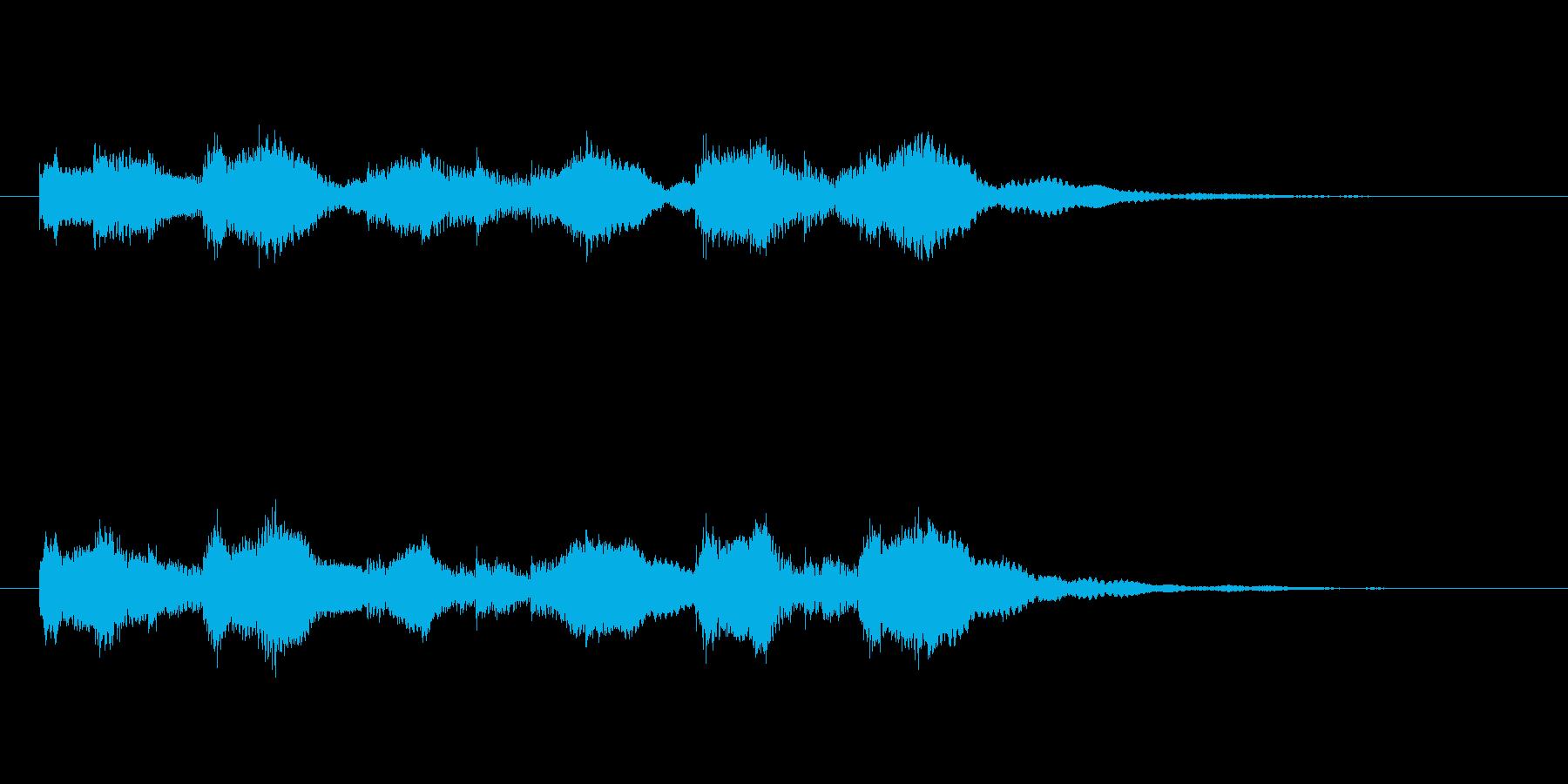 ふんわりした空気感のある音の再生済みの波形