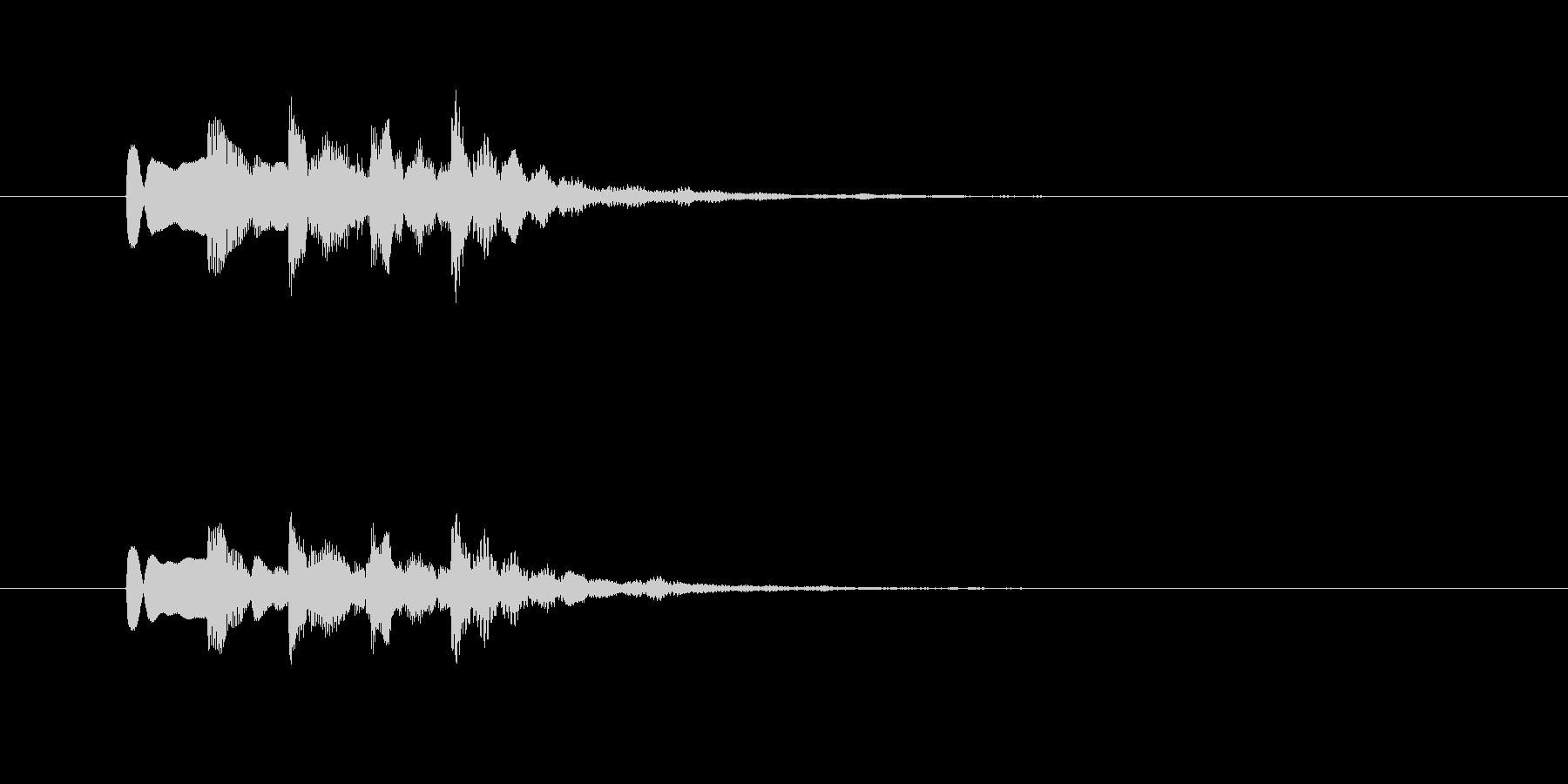 レトロなシンセのジングルの未再生の波形