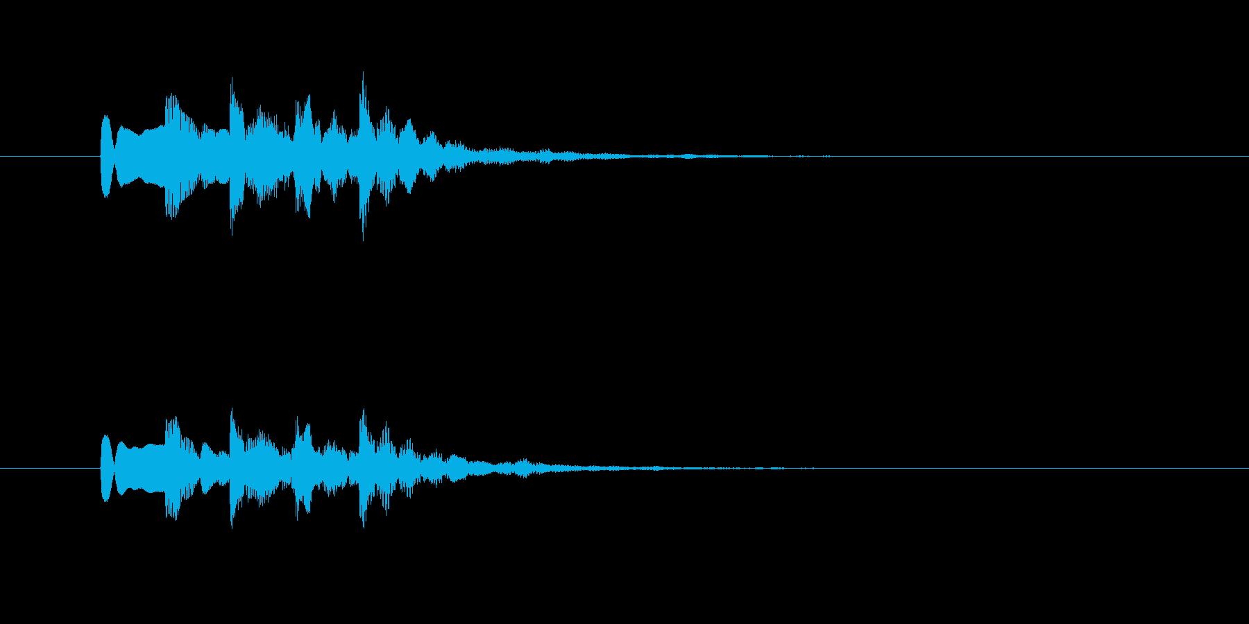 レトロなシンセのジングルの再生済みの波形
