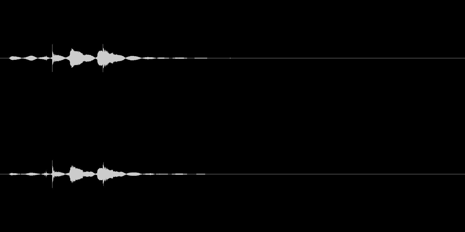 ストーブのスイッチオンの未再生の波形