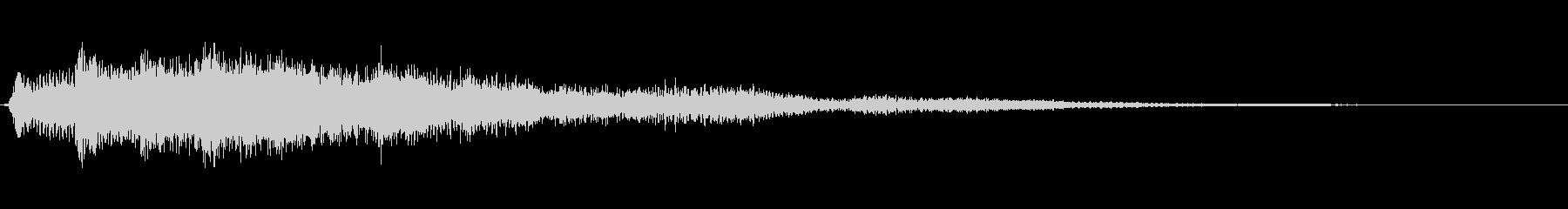 サウンドロゴ想定クールなエレキギター3の未再生の波形