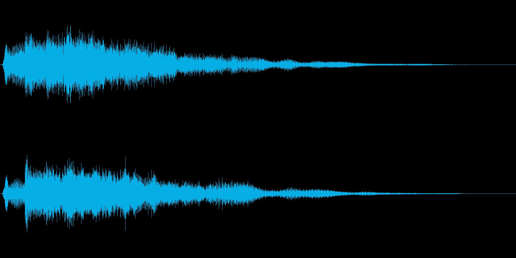 サウンドロゴ想定クールなエレキギター3の再生済みの波形
