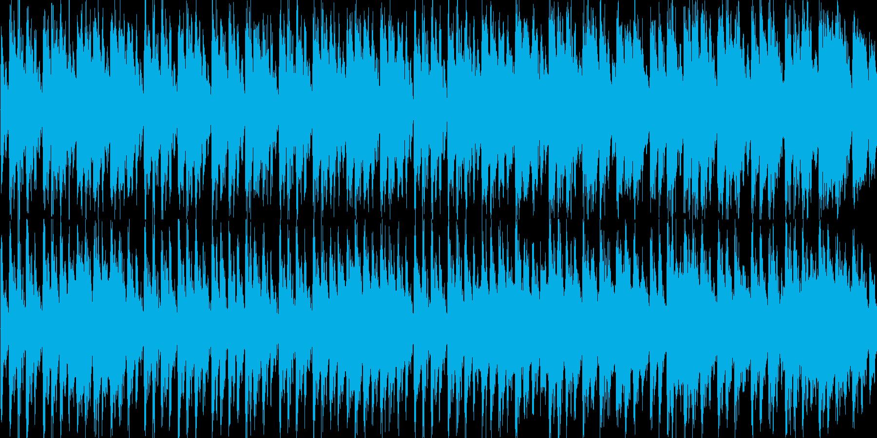 ほのぼの かわいい 楽しいテクノポップ の再生済みの波形