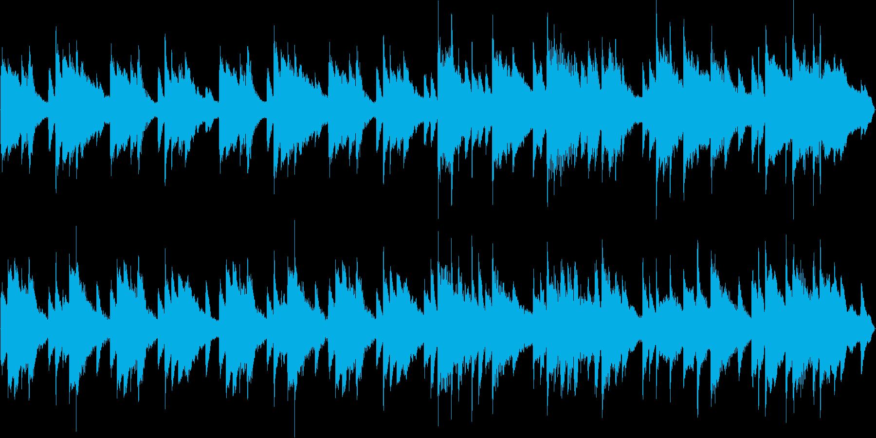 朝をイメージしたピアノだけのループ曲の再生済みの波形
