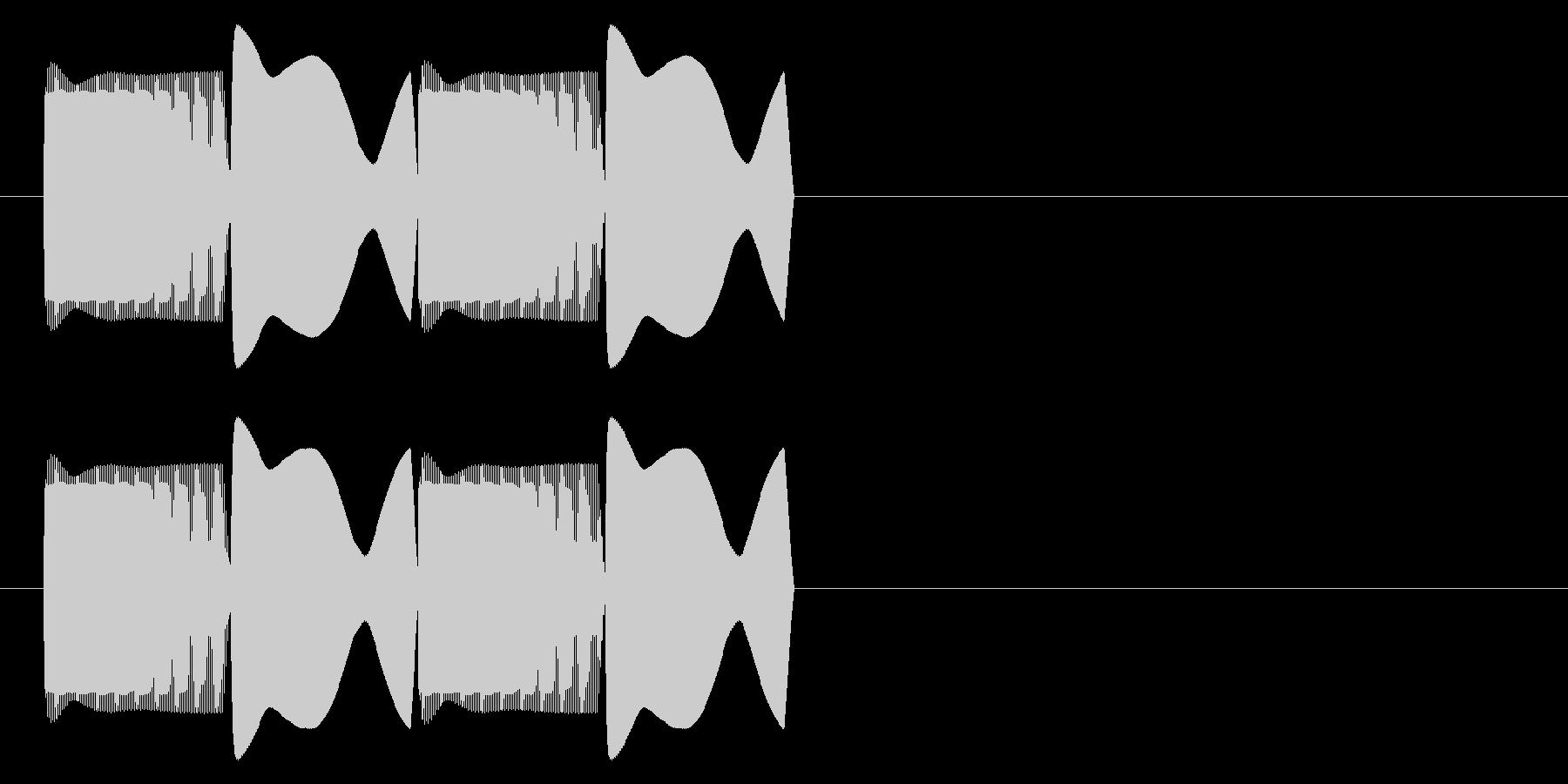 ピコピコ(エラー・アラート音)ver2の未再生の波形
