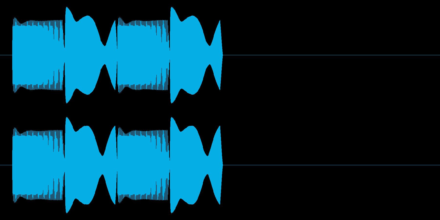 ピコピコ(エラー・アラート音)ver2の再生済みの波形