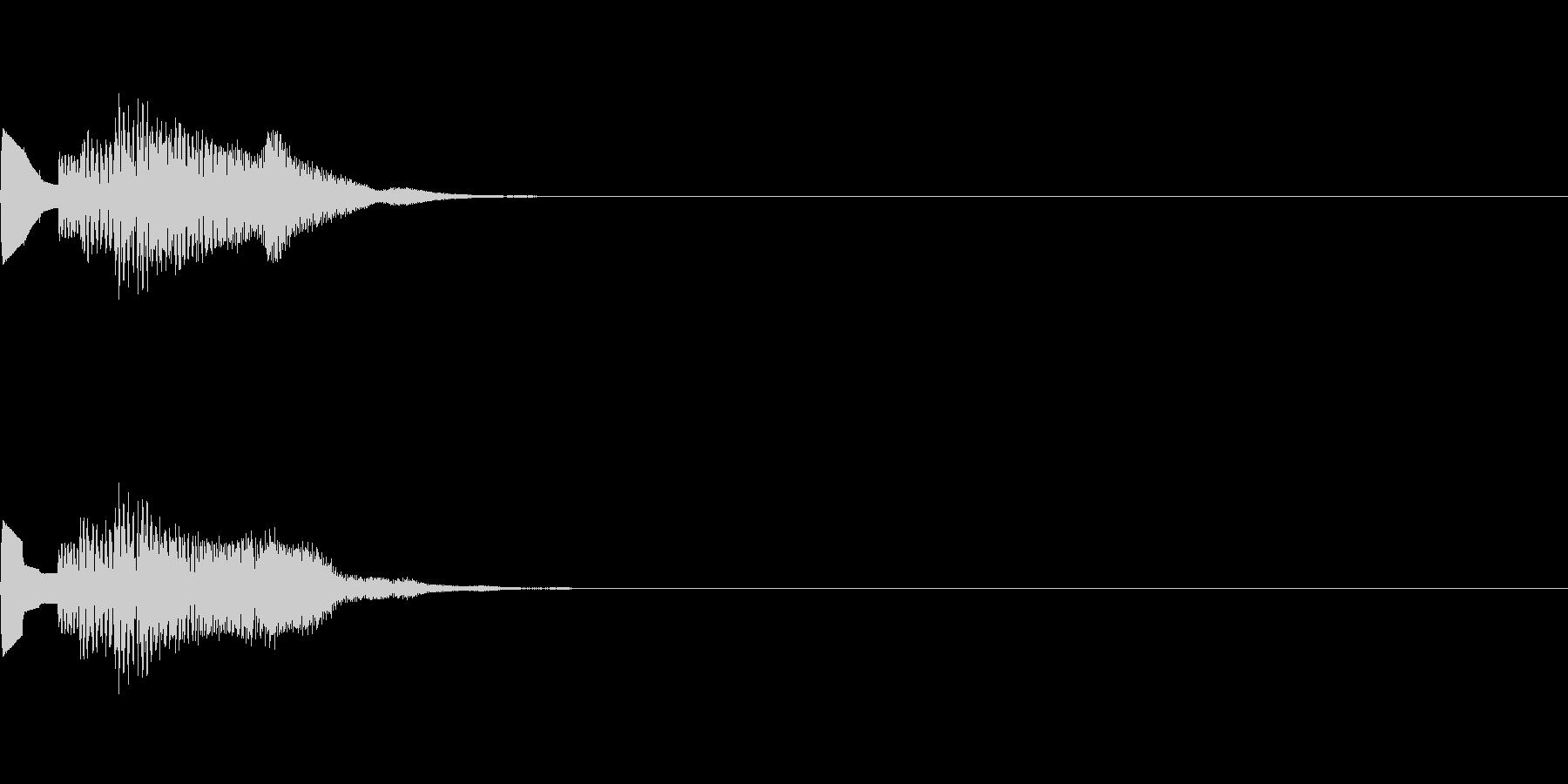 システム音08_シンセDWの未再生の波形
