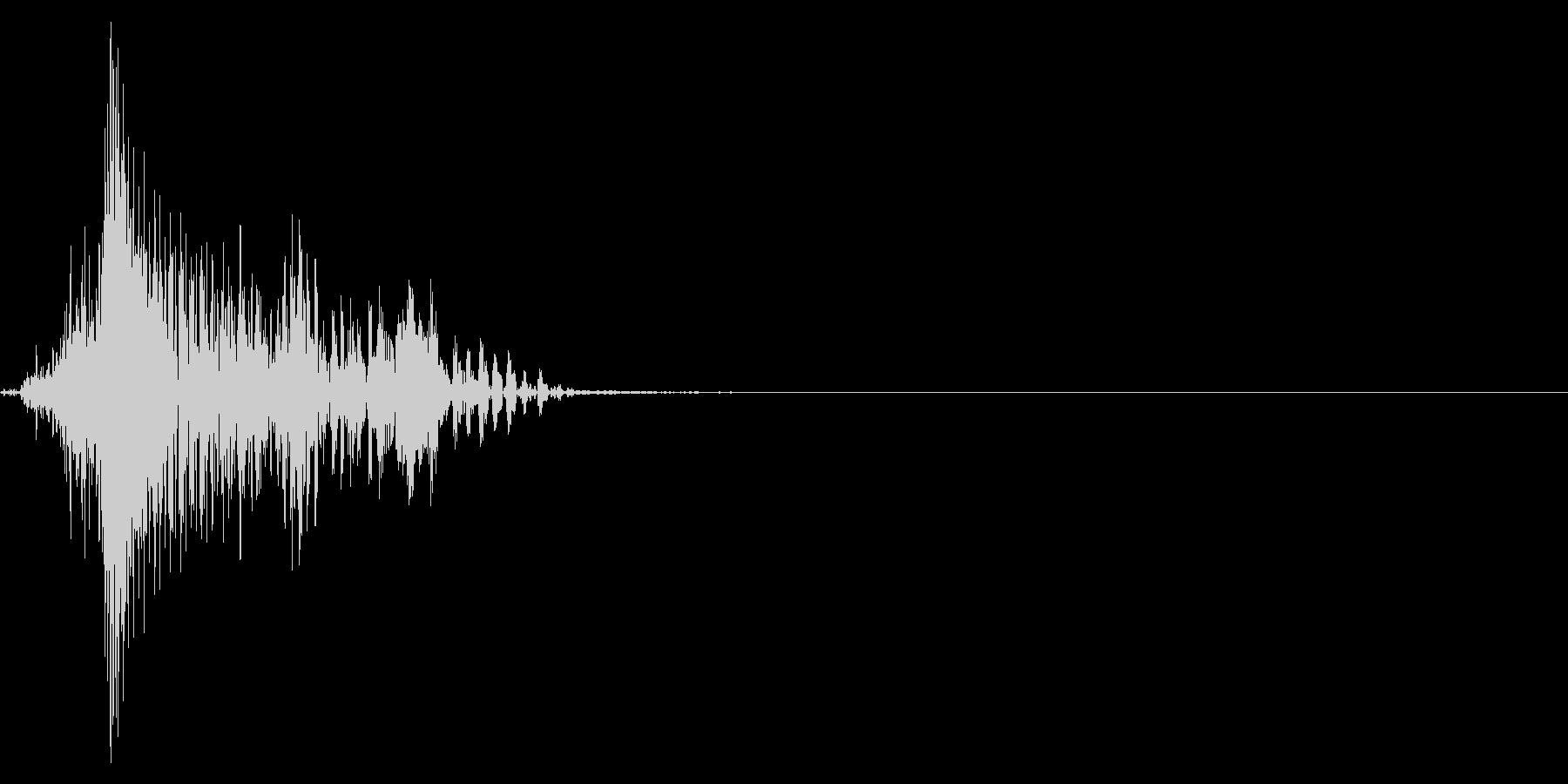 ゲーム掛け声男1ツァッ2の未再生の波形
