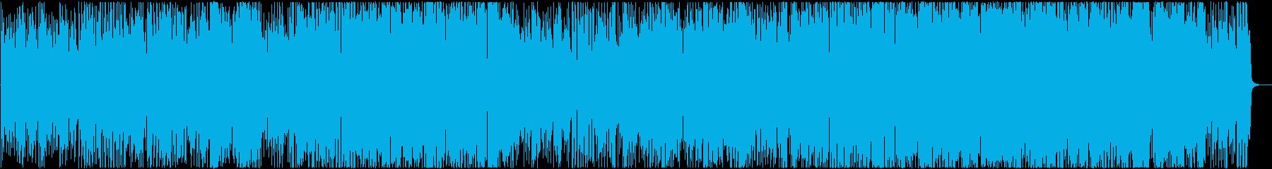 80年台ディスコを彷彿とさせるブラス曲の再生済みの波形