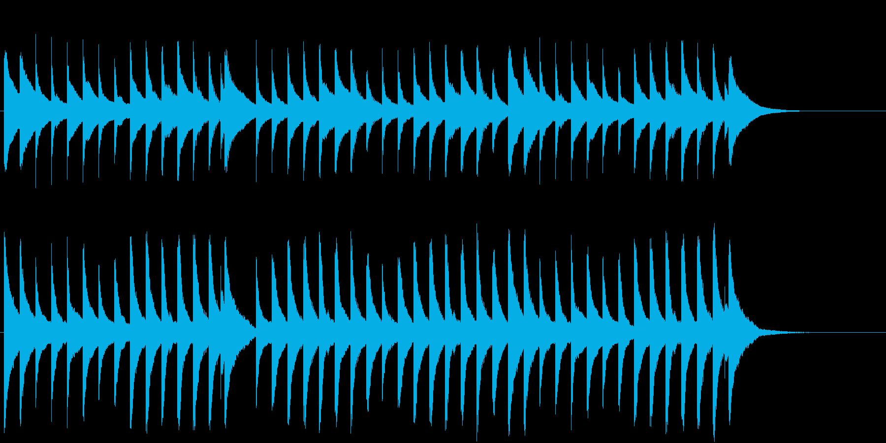 キラキラ星をオルゴールでの再生済みの波形