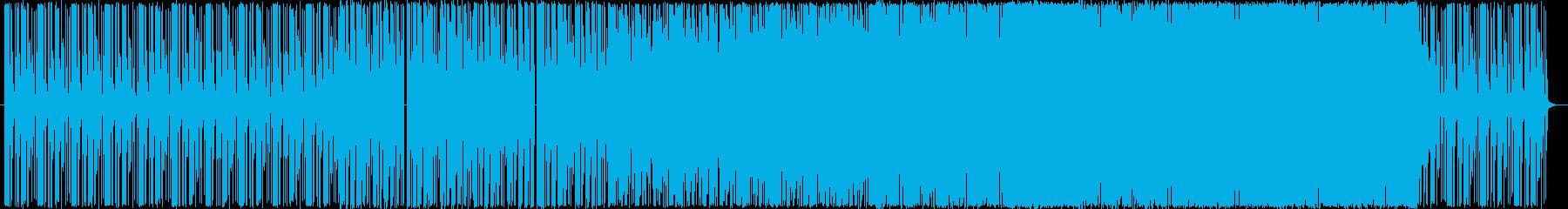 ピアノとドラムを主体とした綺麗なテクノの再生済みの波形